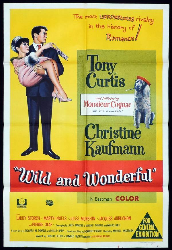 WILD AND WONDERFUL One Sheet Movie Poster Tony Curtis Christine Kaufmann