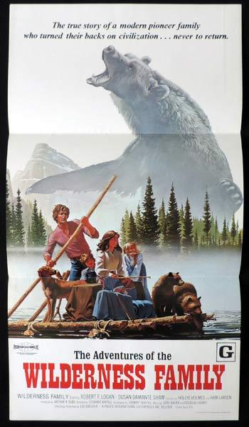 ADVENTURES OF THE WILDERNESS FAMILY Daybill Movie poster Robert Logan