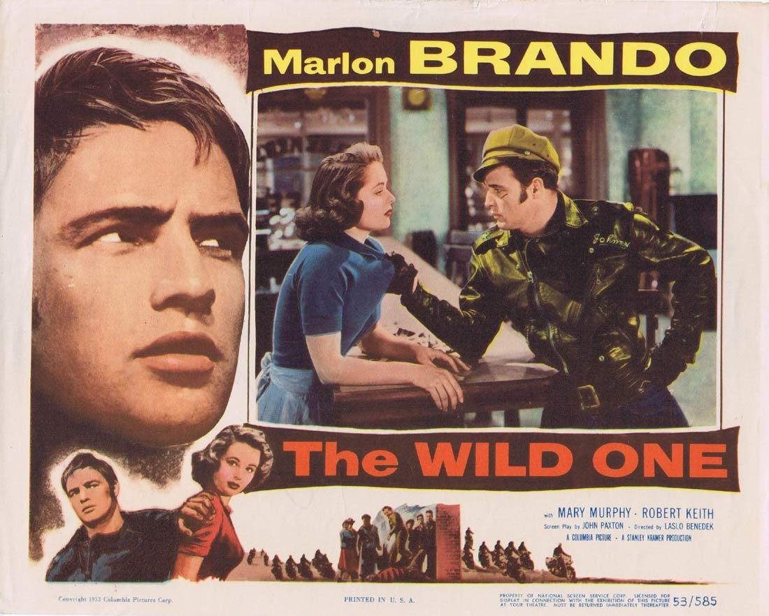 THE WILD ONE Vintage Lobby Card Marlon Brando Motorcycle Biker