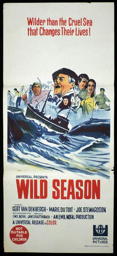 WILD SEASON Original Daybill Movie Poster Gert van den Bergh South African Film