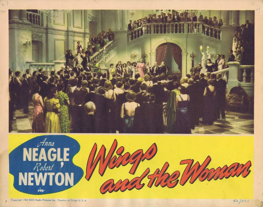 WINGS AND THE WOMAN Lobby Card 2 Anna Neagle Robert Newton Edward Chapman 1942