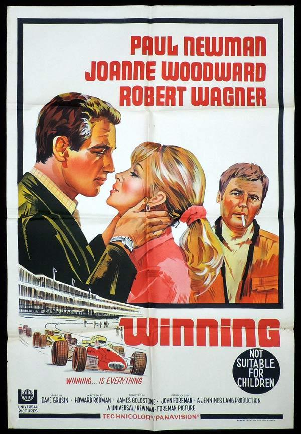 WINNING One Sheet Movie Poster Paul Newman Robert Wagner Motor Racing