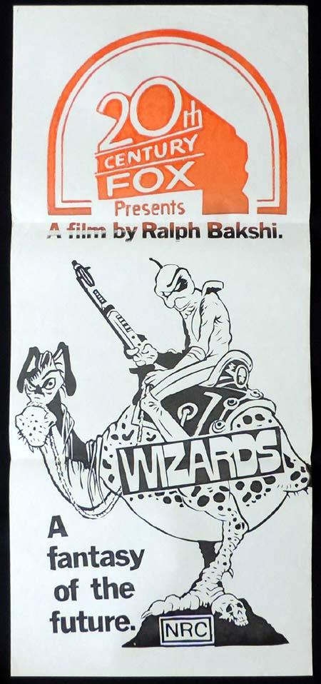 WIZARDS Original Stock 70sr Daybill Movie Poster Ralph Bakshi