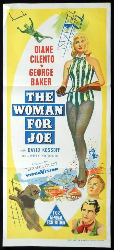 THE WOMAN FOR JOE Original Daybill Movie Poster Diane Cilento George Baker Circus