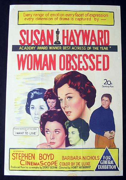 WOMAN OBSESSED One Sheet Movie Poster Susan Hayward