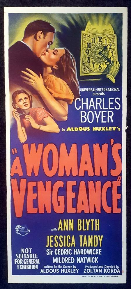 A WOMANS VENGEANCE Daybill Movie Poster Charles Boyer 1948