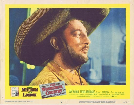 THIS WONDERFUL COUNTRY 1959 Robert Mitchum Lobby Card 2