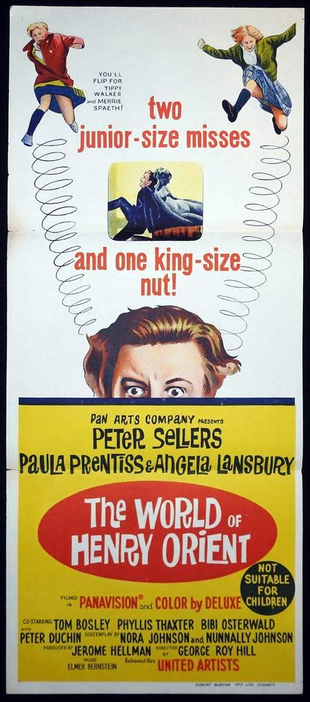 THE WORLD OF HENRY ORIENT Original Daybill Movie Poster Peter Sellers Paula Prentiss