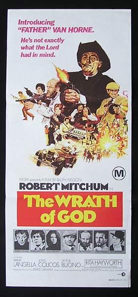 THE WRATH OF GOD Original Daybill Movie Poster Ruth Hussey Robert Mitchum Rita Hayworth