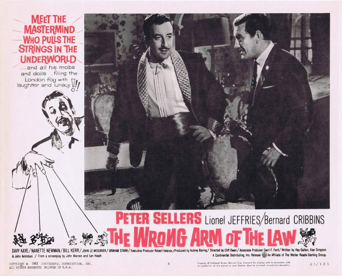 THE WRONG ARM OF THE LAW Lobby Card 8 Peter Sellers Lionel Jeffries Bernard Cribbins