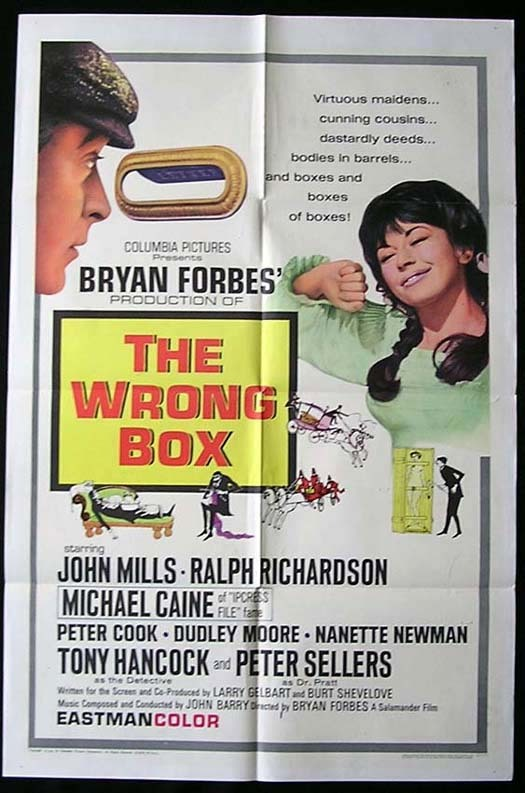 THE WRONG BOX Movie poster 1966 Dudley Moore Tony Hancock One sheet