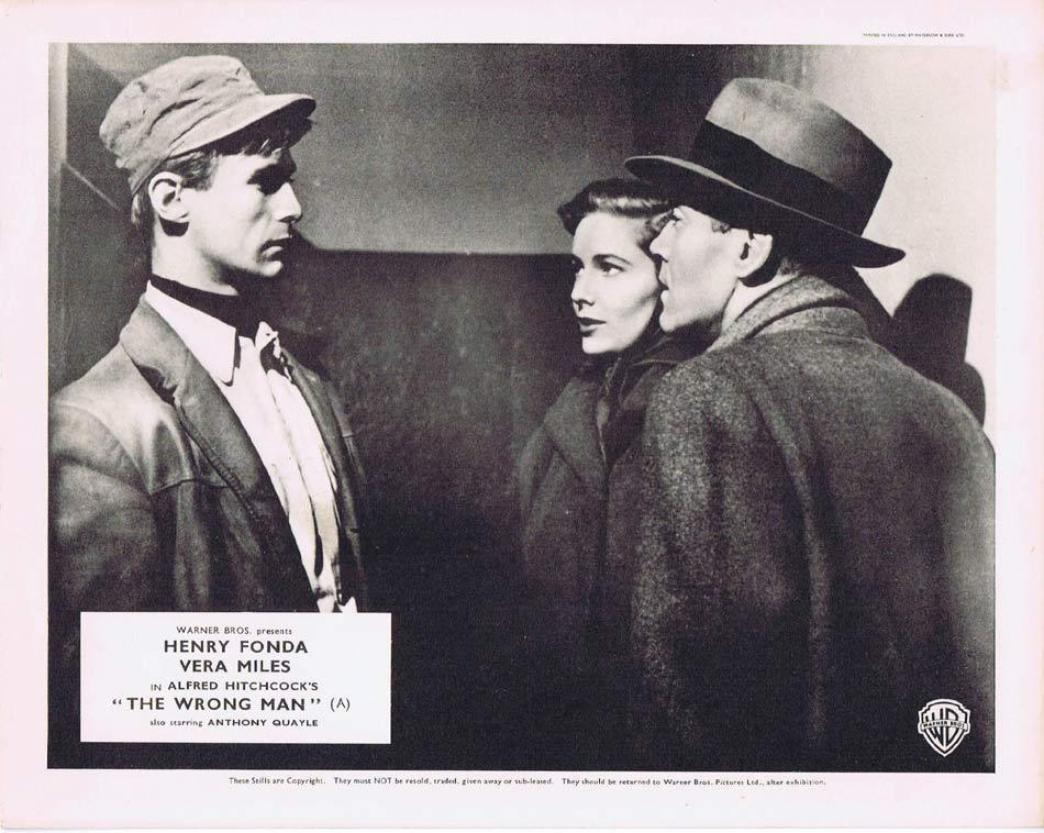 THE WRONG MAN Front of House Movie Still 3 8 x 10 Henry Fonda Alfred Hitchcock