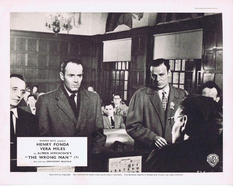 THE WRONG MAN Front of House Movie Still 4 8 x 10 Henry Fonda Alfred Hitchcock