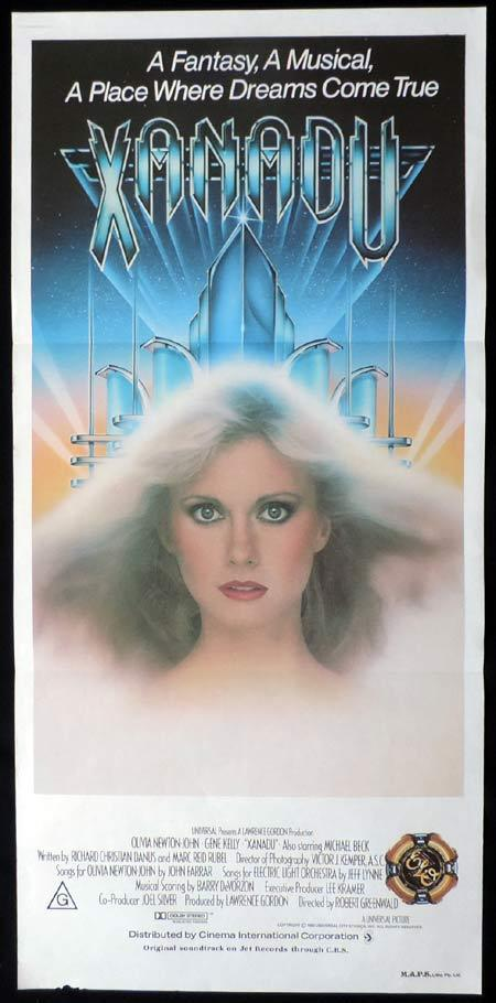 XANADU Original Daybill Movie Poster Olivia Newton John