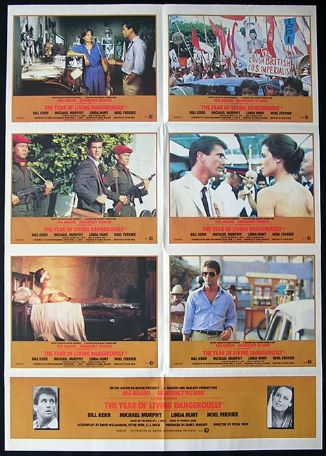 THE YEAR OF LIVING DANGEROUSLY Mel Gibson PHOTO SHEET movie poster