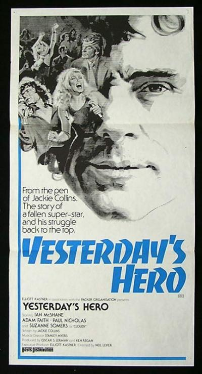 YESTERDAY'S HERO 1979 Ian McShane Rare ORGINAL Movie poster