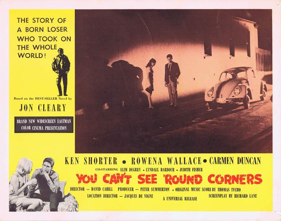 YOU CAN'T SEE ROUND CORNERS Australian Lobby Card 7 Ken Shorter