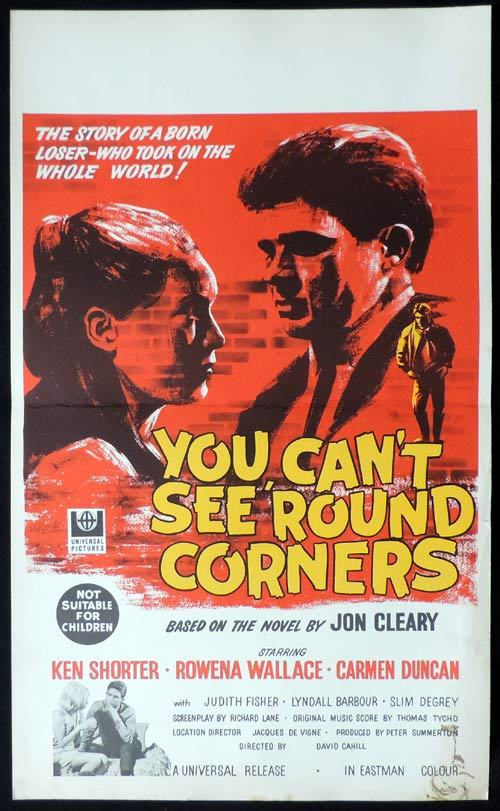 YOU CAN'T SEE ROUND CORNERS Original Window Card Movie poster Ken Shorter