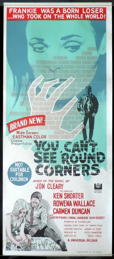 YOU CAN'T SEE ROUND CORNERS 1969 Ken Shorter ORIGINAL poster