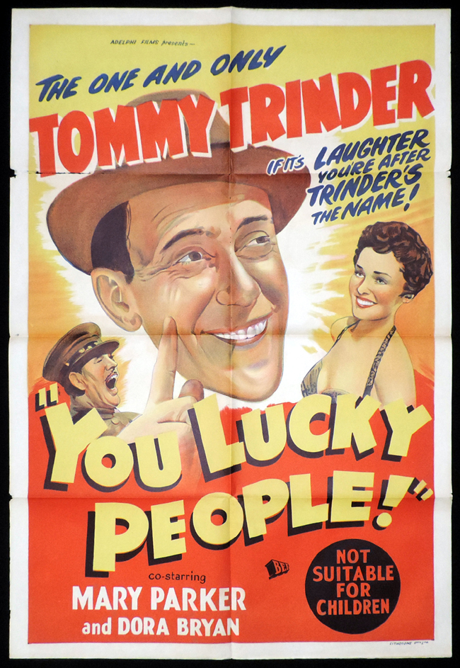 YOU LUCKY PEOPLE One Sheet Movie Poster Tommy Trinder ...