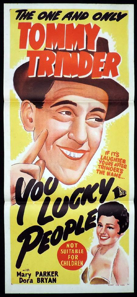 YOU LUCKY PEOPLE Daybill Movie poster TOMMY TRINDER British Comedy