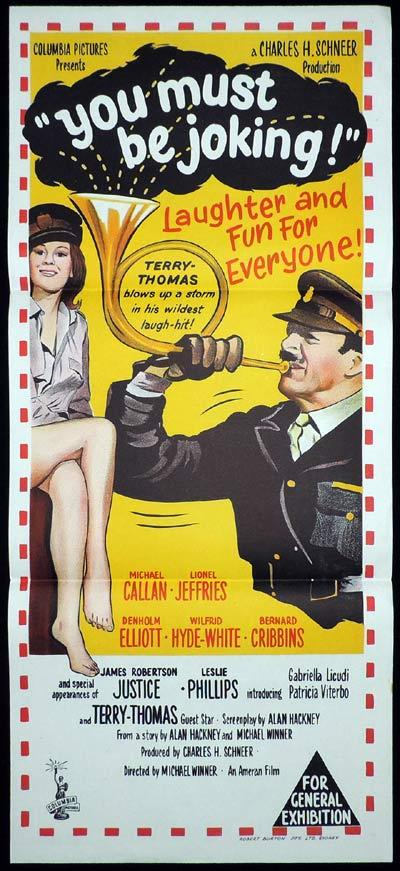 YOU MUST BE JOKING Daybill Movie poster Terry-Thomas