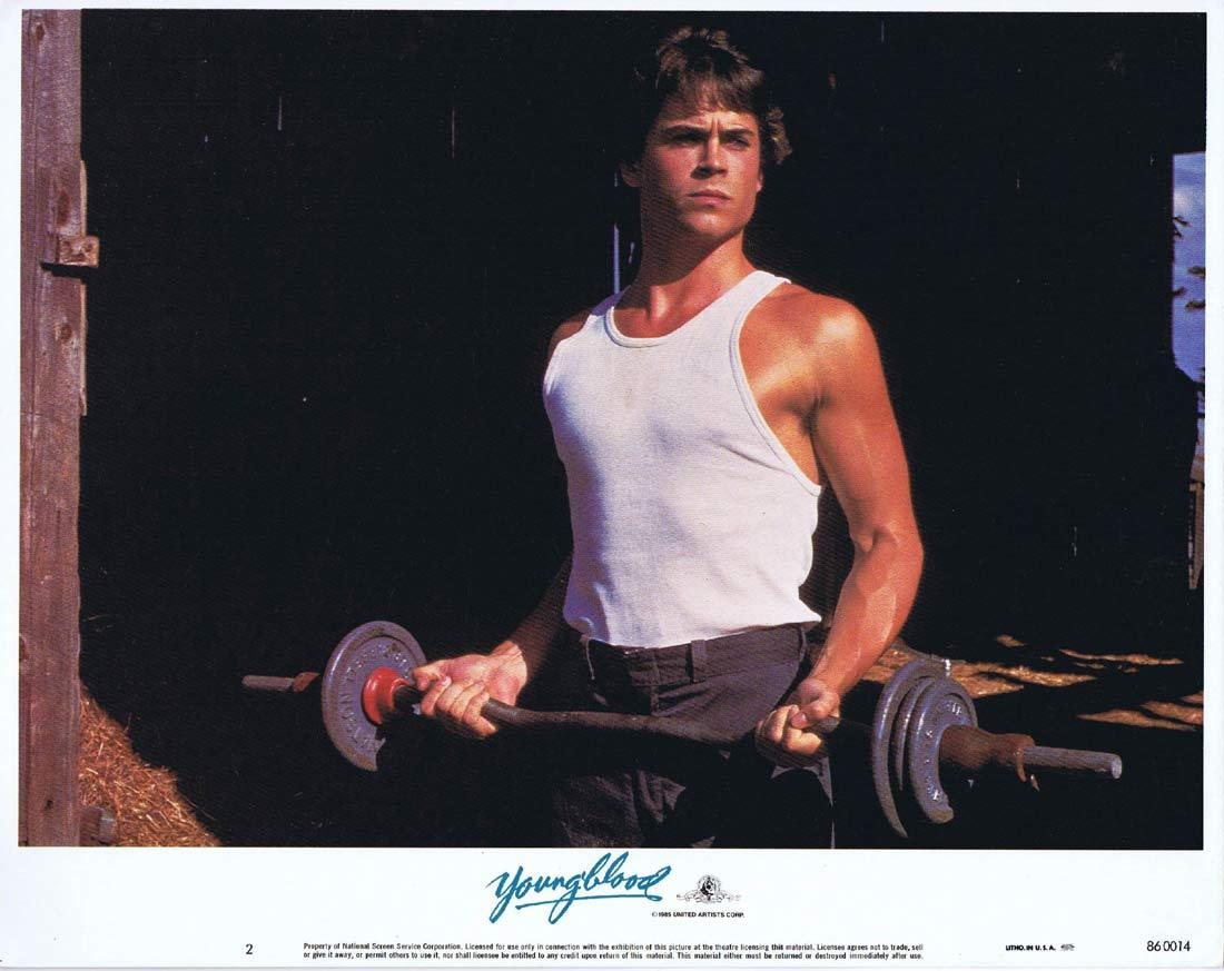 YOUNGBLOOD Original Lobby Card 2 ROB LOWE Patrick Swayze Ice Hockey