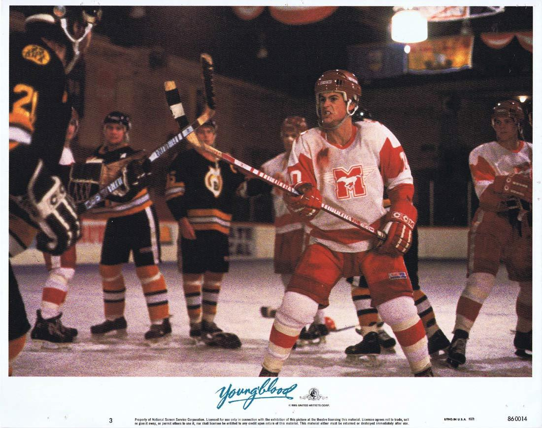 YOUNGBLOOD Original Lobby Card 3 ROB LOWE Patrick Swayze Ice Hockey