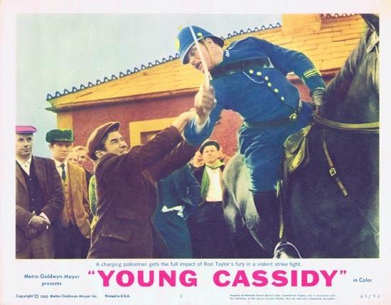 YOUNG CASSIDY Lobby Card 3 1965 Rod Taylor Julie Christie