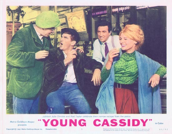 YOUNG CASSIDY Lobby Card 5 1965 Rod Taylor Julie Christie