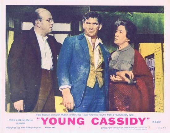 YOUNG CASSIDY Lobby Card 8 1965 Rod Taylor Julie Christie