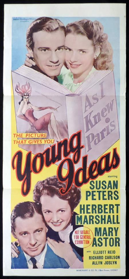 YOUNG IDEAS Original Daybill Movie Poster Susan Peters Mary Astor Marchant Graphics