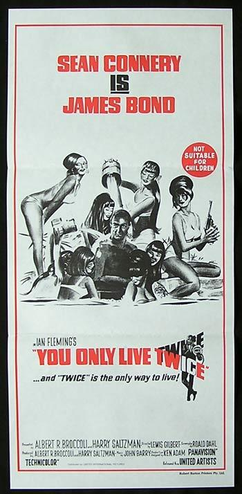 YOU ONLY LIVE TWICE 1981r daybill Movie poster James Bond