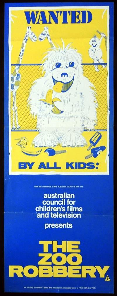 THE ZOO ROBBERY Daybill Movie Poster Australian Council for Childrens Film and TV