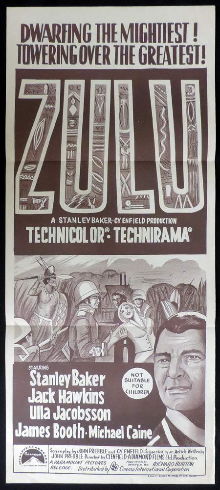 ZULU Original Daybill Movie Poster Stanley Baker