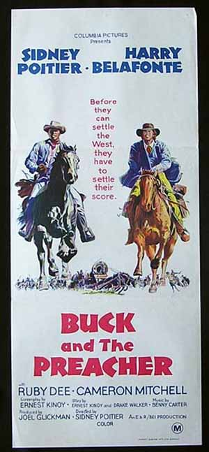 BUCK AND THE PREACHER-Poitier-Belafonte poster
