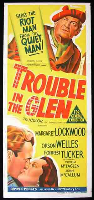 TROUBLE IN THE GLEN '54 Margaret Lockwood Movie poster