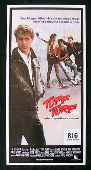 TUFF TURF 1985 Daybill Movie poster James Spader Kim Richards ORIGINAL