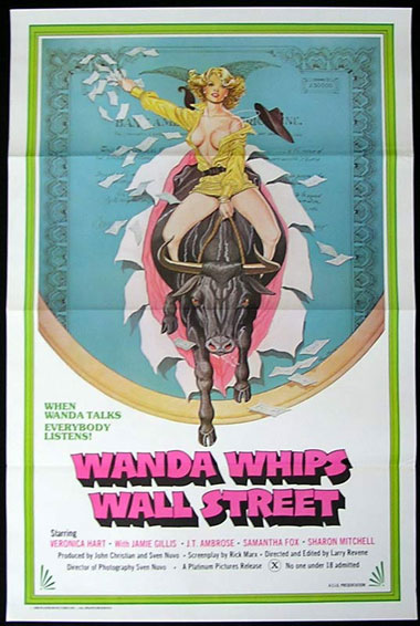 WANDA WHIPS WALL STREET US One sheet Movie poster '76 Linda Lovemore Sexploitation