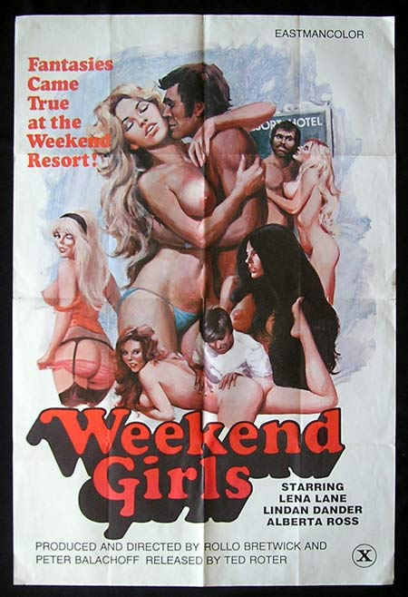 WEEKEND GIRLS Original One sheet Movie Poster '70s Sexploitation