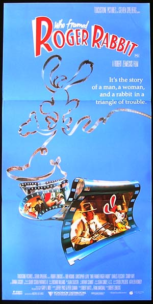 WHO FRAMED ROGER RABBIT Daybill Movie poster Bob Hoskins