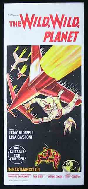 WILD WILD PLANET Daybill Movie Poster Tony Russel Science Fiction Sci Fi
