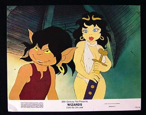 WIZARDS Movie Poster 1977 Ralph Bakshi 8 x 10 US Lobby Card / Still 2