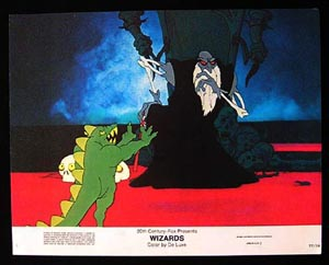 WIZARDS Movie Poster 1977 Ralph Bakshi 8 x 10 US Lobby Card / Still 5