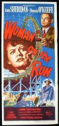 WOMAN ON THE RUN Movie Poster 1949 Ann Sheridan FILM NOIR daybill