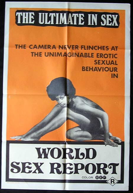 WORLD SEX REPORT '70-Rare Sexploitation poster