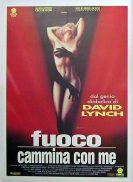TWIN PEAKS 1992 David Lynch ITALIAN Linen backed BEST ART Movie poster