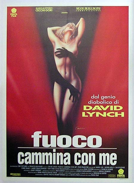 TWIN PEAKS 1992 David Lynch ITALIAN Linen backed BEST ART Movie poster