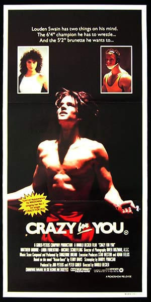 VISION QUEST aka CRAZY FOR YOU 1985 Matthew Modine Wrestling daybill Movie poster