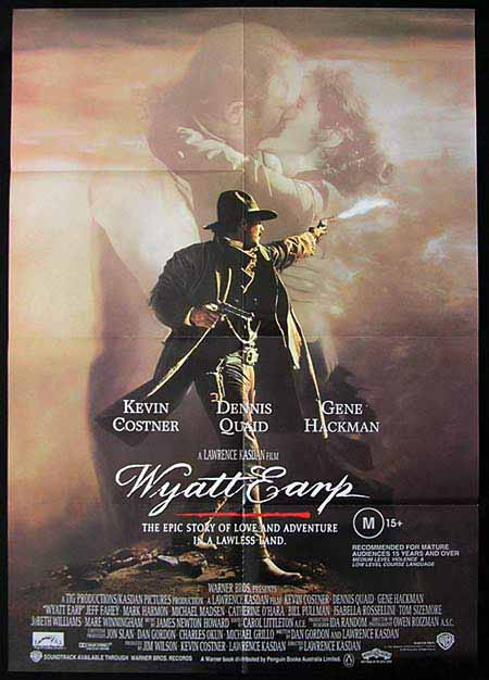 WYATT EARP 1994 Kevin Costner Vintage 1sh Movie poster